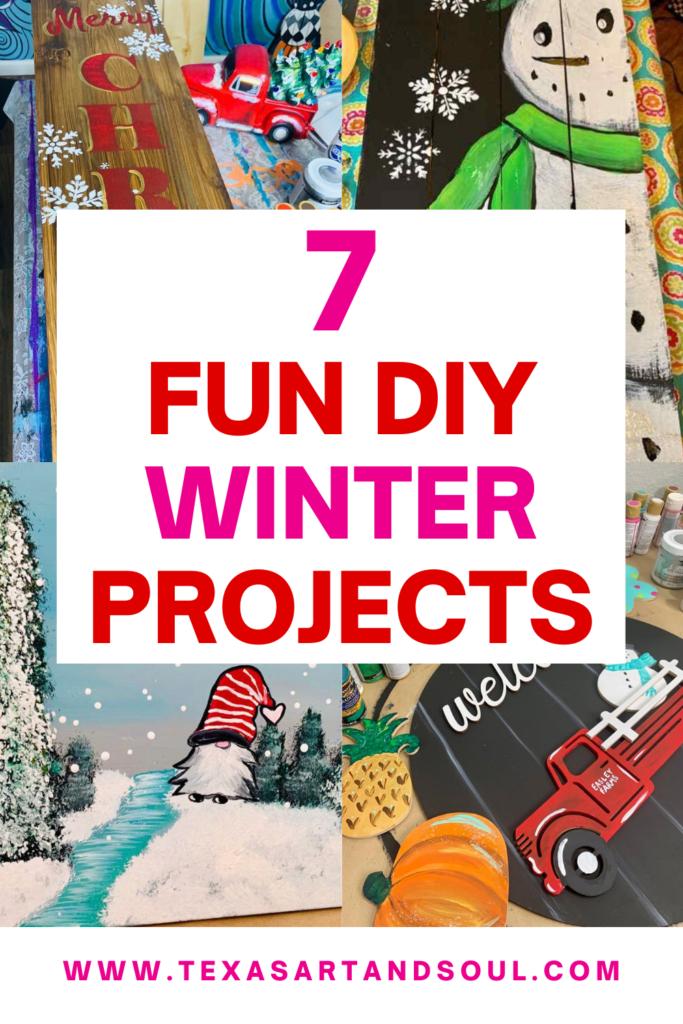 7 DIY Winter Crafts Pinterest Pin Image
